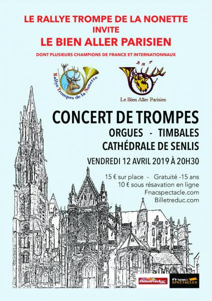Concert de Trompes- Orgues - Timbales à Senlis - 13.04.2019